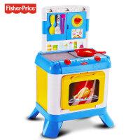 费雪婴幼儿三合一探索厨房儿童过家家趣味声光早教玩具儿童节礼物 费雪三合一探索厨房FDF06