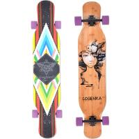 洛森卡losenka 成人男女专业滑板 长板滑板 四轮双翘板 滑板车 长板 竞速滑板 代步公路板