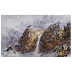 韩日 《金刚山的秋天》朝鲜画家