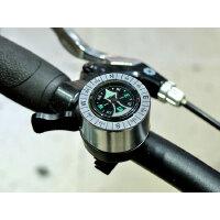 指南针铃山地车折叠车警示指北针铃铛 平面铃铛 自行车车铃