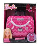 芭比化妆盒儿童化妆品套装公主彩妆箱娃娃口红指甲油玩具女孩