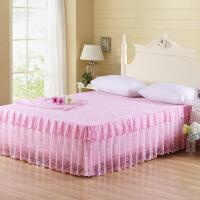 伊迪梦家纺 蕾丝床裙双层裙摆 公主床单品花边床罩 1.2/1.5/1.8/2m米床BD701