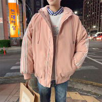 ins超火的外套秋冬季面包服宽松情侣装棉衣男士韩版潮流棉袄