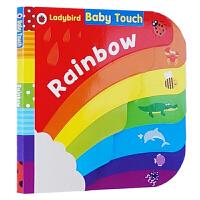 【全店300减100】美丽童年 彩虹触摸操作概念启蒙书大开本纸板书 Ladybird Baby Touch Rainbo