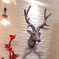 鹿头墙壁挂件家居客厅软装饰品壁挂壁饰动物头北欧样板房
