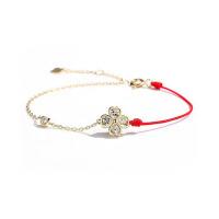 红绳手镯 个性少女心手环时尚花瓣手链