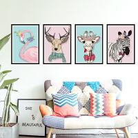 墙贴客厅背景墙壁装饰品火烈鸟卧室温馨贴纸墙贴画