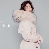 2018韩国羽绒服女中长款新款大毛领韩版修身加厚宽松大码斗篷型潮