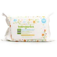 美国甘尼克宝贝 婴儿童宝宝洁肤超厚倍柔滋润保湿巾无香型 100抽