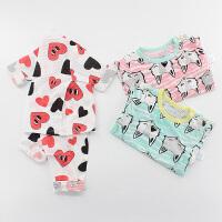 男女宝宝空调服夏季婴儿睡衣长袖5小童家居服