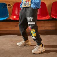 【2件3折:67.5元】儿儿童裤子秋款男童休闲裤加绒运动裤宽松2021款
