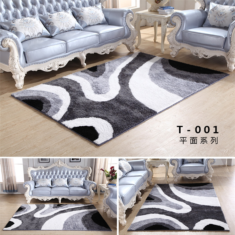 加密加厚亮丝客厅沙发茶几地毯卧室床边地毯简约现代图案门厅地毯 发货周期:一般在付款后2-90天左右发货,具体发货时间请以与客服协商的时间为准