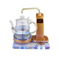 家用水晶养生壶自动上水玻璃电热水壶烧水煮茶壶茶炉茶具 白色