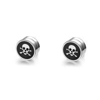 钛钢磁铁耳钉无耳洞耳夹男生无洞耳环个性人情人节礼物