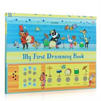 英文原版 My First Drumming Book 打击乐 发声书 儿童发声书 五种鼓声 激发孩子运动兴趣 培养运