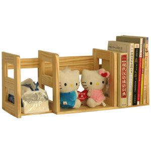 宜哉 松木书架 桌上小书架 儿童书架 书立 无油漆 SY1A.40D