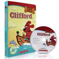 儿童英文原版读物Clifford the Big Red Dog 大红狗系列4本盒装 进口绘本作者 Gail Herm
