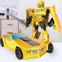 合金变形玩具金刚5大黄蜂汽车机器人赛博坦G1手办模型男孩4