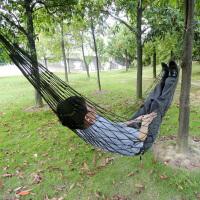 吊床室内单人秋千户外便携休闲简易加粗网兜吊床户外装备 野餐用品
