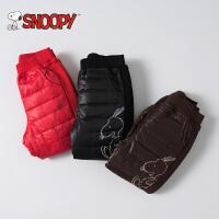 snoopy/史努比童装2017新款冬季白鸭绒螺纹裤脚实用保暖羽绒裤