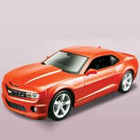 礼品1:24拼装车模 仿真雪佛兰科迈罗跑车合金汽车拼装模型组装送儿童男友 橙色
