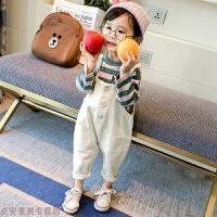 冬季女宝宝秋装套装0-1-2-3岁韩版洋气4女童背带裤两件套5小童时髦潮秋冬新款