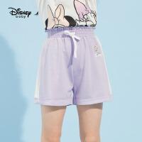 【3折券后价:33.3元】迪士尼童装女童夏装针织运动短裤2021夏季新款儿童宝宝洋气短裤