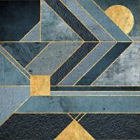 北欧现代简约客厅装饰画 美式创意抽象画 沙发后背景墙壁挂画SN4576 75*75 11色爱普生墨水进口相纸印制
