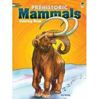 【预订】Prehistoric Mammals Coloring Book