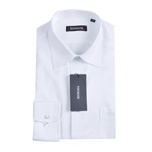 youngor/雅戈尔   男士商务涤棉免熨白色长袖衬衣 VP11252