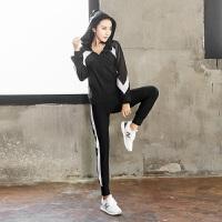 加肥加大码秋冬季运动套装休闲女装胖mm200斤健身跑步宽松瑜伽服
