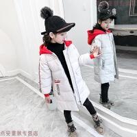 女童金丝绒棉衣2018新款儿童中长款女孩棉袄加厚洋气冬装外套