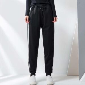 【一件三折 到手价:239.7】yaloo/雅鹿羽绒裤女新款高腰显瘦加厚保暖裤外穿修身运动风冬季