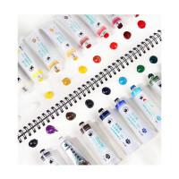 水彩水粉颜料套装24色36色儿童小学生用初学者绘画工具箱色彩管状管装画画美术生 24色5ml 升级版(配收纳盒) 单盒