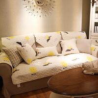 布艺防滑沙发坐垫斜纹高档时尚百搭沙发巾套皮沙发垫