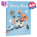 【中商原版】Rashin Kheiriyeh:故事之船 Story Boat 绘本故事书 难民故事 想象力 3~6岁