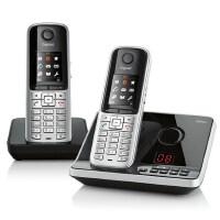 【当当热销】集怡嘉(Gigaset)原西门子品牌S910套装进口数字无绳中文输入电话机一拖一(泰坦银)