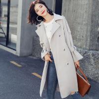 茉蒂菲莉 风衣 女士2018秋季韩版新款中长款系带矮个子薄款宽松港味上衣潮流女式学生休闲外套