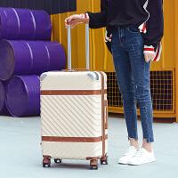 复古拉杆箱旅行箱万向轮皮箱行李箱子20 22 24寸登机箱女学生韩版 26寸【买一送十 终身保修】