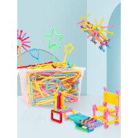 儿童聪明魔术棒积木塑料男孩女孩早教启蒙益智力开发拼装拼插玩具