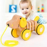 拖拉玩具拉线拉绳拉着走的拉拉车手拉牵引拉车宝宝婴儿儿童学步车
