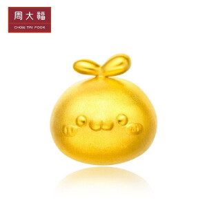 周大福 「长草的颜文字君」颜团子黄金转运珠定价R19368>>定价