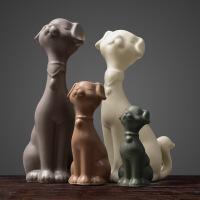 新品北欧家居饰品摆件客厅卧室新房间装饰创意动物饰品狗狗摆设
