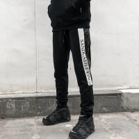 夏季运动休闲长裤男士束脚裤个性印花街舞韩版宽松哈伦裤嘻哈潮