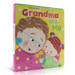 Karen Katz 翻翻书 Grandma and Me 英文原版进口低幼纸板童书