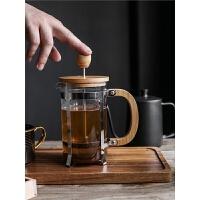 家用冲茶器 耐热玻璃咖啡壶 咖啡滤压壶 过滤杯