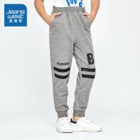 [5折到手价:50.3元,狂欢返场/仅限12.13-16]真维斯男童 2019秋装 卫衣布印花休闲长裤