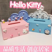 helloKitty凯蒂猫kt可爱卡通桌面纸巾盒卫生纸盒纸抽盒办公抽纸盒