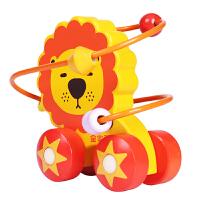 婴幼儿木质绕珠串珠小推车宝宝启蒙早教玩具1-2-3岁