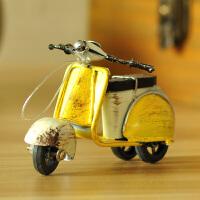 创意北欧文艺小摆件复古摩托车模型家居装饰品